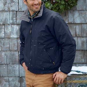 L.L. Bean | Men's Red Warm-Up Fleece Lined Jacket
